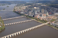 Aerial Photos and photography of Harrisburg Pennsylvania