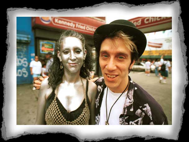 Coney Island Couple in silver