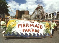 Coney Island Mermaid Parade Banner Photos